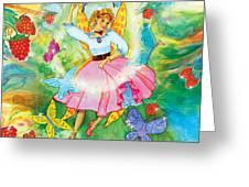 Merri Goldentree Dances Greeting Card by Teresa Ascone