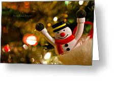 Merry Christmas Everyone  Greeting Card by Steven Poulton