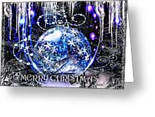 Merry Christmas Greeting Card by Mo T