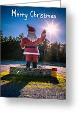 Merry Christmas Santa Claus Greeting Card Greeting Card by Edward Fielding