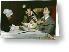 Merrymakers Greeting Card by Charles Emile Auguste Carolus-Duran