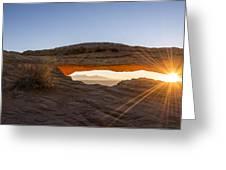 Mesa Arch Sunrise 7 - Canyonlands National Park - Moab Utah Greeting Card by Brian Harig