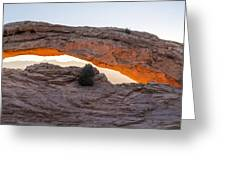 Mesa Arch Sunrise Panorama - Canyonlands National Park - Moab Utah Greeting Card by Brian Harig