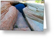 Mesa Canyon Sink Greeting Card by Robert Watson