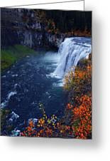Mesa Falls Greeting Card by Raymond Salani III