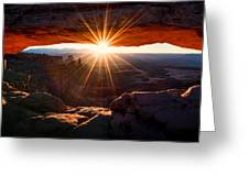 Mesa Glow Greeting Card by Chad Dutson