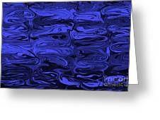 Mesmerizing Deep Blue Greeting Card by Carol Groenen
