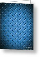 Metal Background Greeting Card by Carlos Caetano