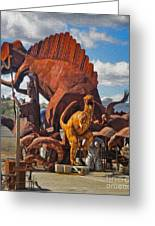 Metal Dinosaurs - 05 Greeting Card by Gregory Dyer