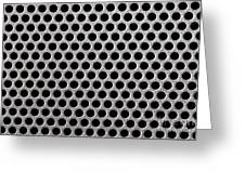 Metal Grill Dot Pattern Greeting Card by Simon Bratt Photography LRPS
