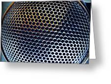 Metal Mesh Greeting Card by Les Cunliffe