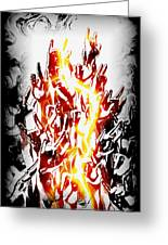 Metal On Greeting Card by Frederico Borges