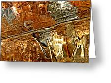 Metallic Ice Greeting Card by Chris Berry