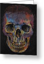 Skull Greeting Card by Michael Creese