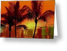 Metallic Sunset Greeting Card by Athala Carole Bruckner