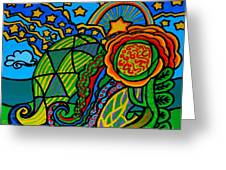 Metaphysical Starpalooza Greeting Card by Genevieve Esson