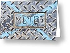 Meter Cover Greeting Card by Tom Gowanlock