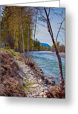 Methow River Coming From Mazama Greeting Card by Omaste Witkowski
