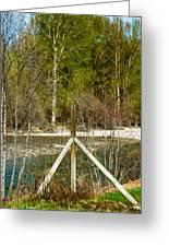 Methow River Springtime Greeting Card by Omaste Witkowski