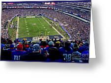 Metlife Stadium Greeting Card by Gary Keesler