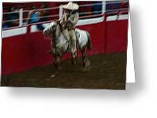 Mexican Cowboy July 4th Rodeo Chandler Arizona 1999 Greeting Card by David Lee Guss