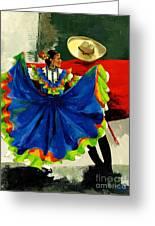 Mexican Dancers Greeting Card by Elisabeta Hermann