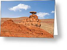 Mexican Hat Rock Greeting Card by Christine Till