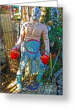 Mexican Wrestler Greeting Card by Gregory Dyer