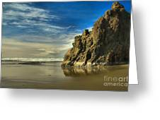 Meyers Beach Stacks Greeting Card by Adam Jewell