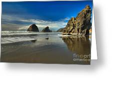 Meyers Creek Beach Greeting Card by Adam Jewell
