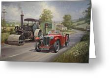 Mg Sports Car. Greeting Card by Mike  Jeffries