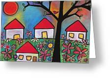 Mi Casa Es Su Casa Greeting Card by Carla Bank