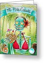 Mi Pina Colada Greeting Card by Heather Calderon