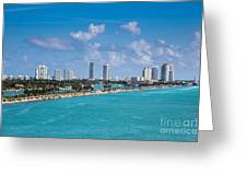 Miami Beach Skyline Greeting Card by Rene Triay Photography