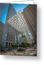 Miami Downtown Shadowplay Greeting Card by Ian Monk