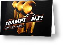 Miami Heat Aaa Championship Banner Greeting Card by J Anthony