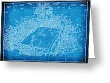 Miami Heat Arena Blueprint Greeting Card by Joe Myeress