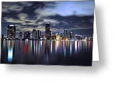 Miami Skyline Greeting Card by Gary Dean Mercer Clark