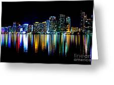 Miami Skyline High Res Greeting Card by Rene Triay Photography