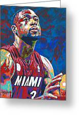 Miami Wade Greeting Card by Maria Arango