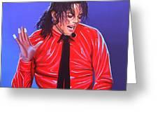 Michael Jackson 2 Greeting Card by Paul Meijering