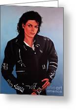 Michael Jackson Bad Greeting Card by Paul  Meijering