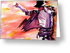 Michael Jackson-billie Jean Greeting Card by Joshua Morton