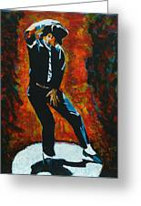 Michael Jackson Dancing The Dream Greeting Card by Patrick Killian