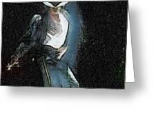 Michael Jackson Greeting Card by Georgi Dimitrov