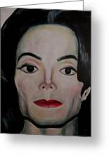 Michael Jackson Greeting Card by Maria Mimi
