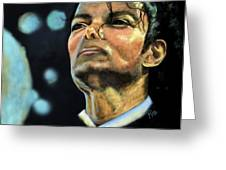 Michael Jackson Greeting Card by Maria Schaefers