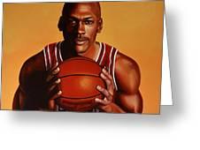 Michael Jordan 2 Greeting Card by Paul Meijering