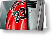 Michael Jordan 23 Shirt Greeting Card by Florian Rodarte