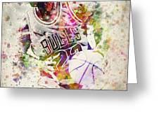 Michael Jordan Greeting Card by Aged Pixel